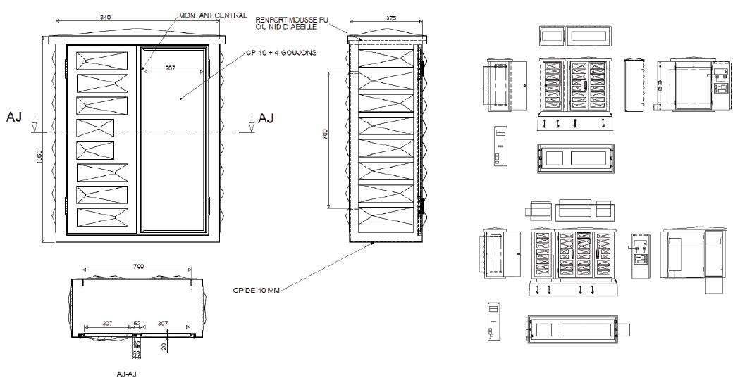 armoires coffrets polyester euro urbain plan 2