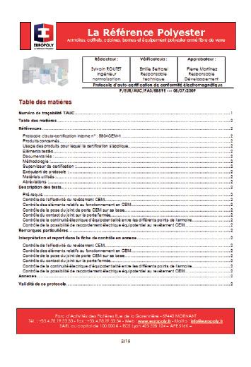 protocole auto certification electomagnetique