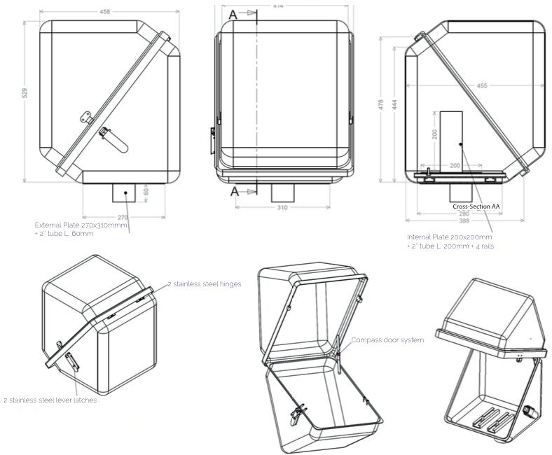 armoires coffrets polyester coffrets instrumentation plan c45