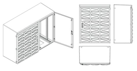 armoires coffrets polyester euro urbain plan 1